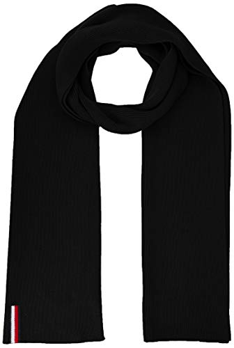 Tommy Hilfiger Th Rib Scarf Echarpe, (Black Bds), unique (Taille fabricant: OS) Homme