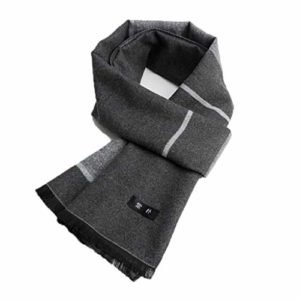 WXYPP Mens À Carreaux Écharpe à Rayures Classique d'hiver Chaud Foulards Longue écharpe Entourage Chaud Foulard (Color : Black Gray Grid, Size : Free Size)